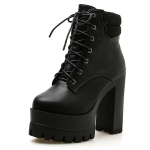 Open image in slideshow, High-heeled Ankle Boots