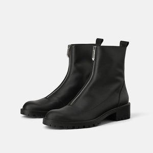 Open image in slideshow, Zipper Ankle Boots
