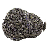 Grey Crystal Evening Bag