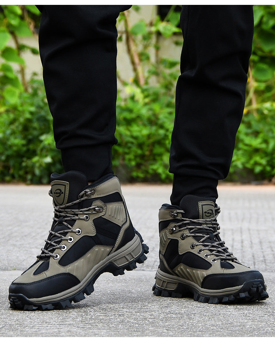 High Top Nubuck Leather Hiking Boots