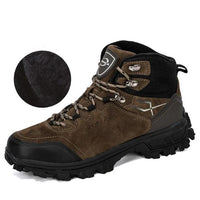 Leather Plush Hiking Boots