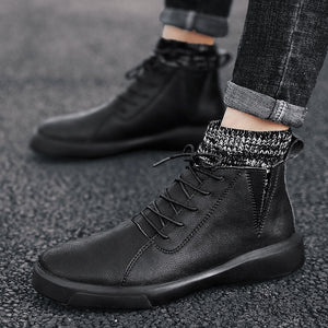 Genuine Leather Soft Ankle Boots