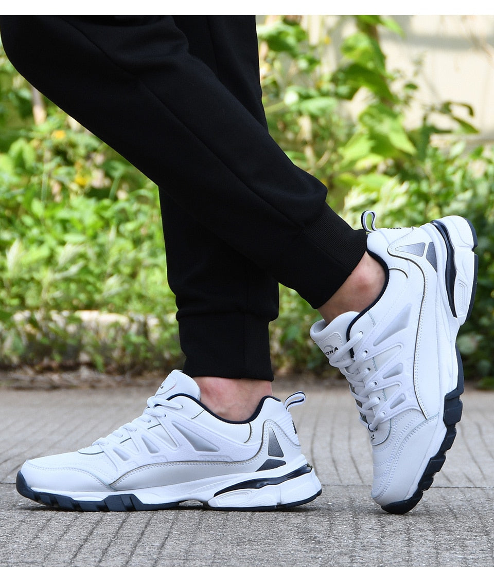 Men's Leather Running Shoes