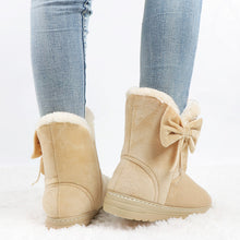 Load image into Gallery viewer, Warm Suede Bow Snow Boots