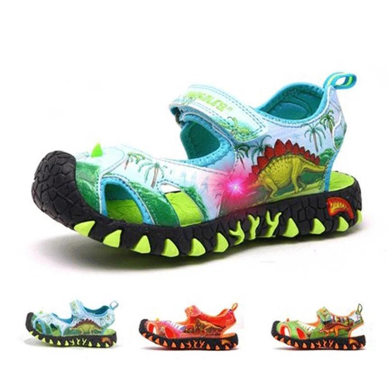 3D LED Disonaur Sandals
