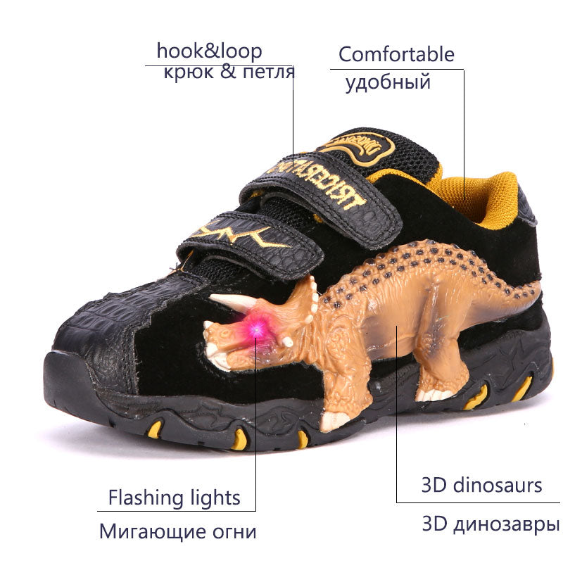 LED 3D Dinosaur Sneakers