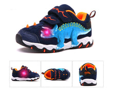 Load image into Gallery viewer, 3D LED Genuine Leather Dinosaur Sneakers