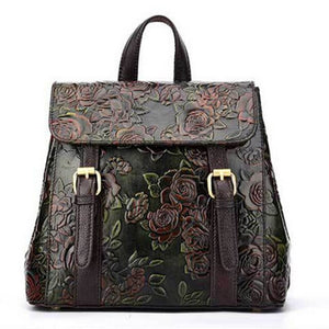 Open image in slideshow, Embossed Genuine Leather Knapsack