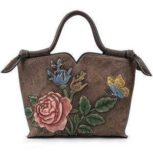 Open image in slideshow, Genuine Leather Tote Bag