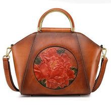 Load image into Gallery viewer, Embossed  Genuine Leather Tote Bag