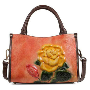 Open image in slideshow, Genuine Leather Rose Bag