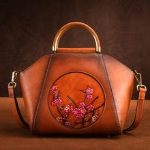 Load image into Gallery viewer, Genuine Leather Chinese Style Vintage Tote Bag