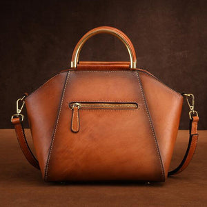 Genuine Leather Chinese Style Vintage Tote Bag