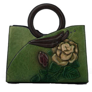 Open image in slideshow, Genuine Embossed Leather Tote Bag