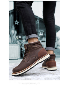 Men's Genuine Leather Waterproof Ankle Boots