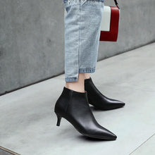 Load image into Gallery viewer, Leather Ankle Booties