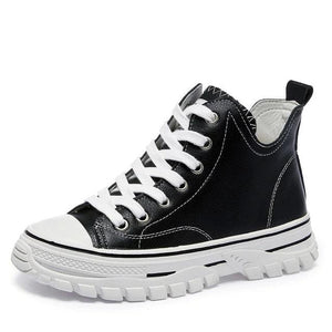 Open image in slideshow, Genuine Leather Platform Sneakers