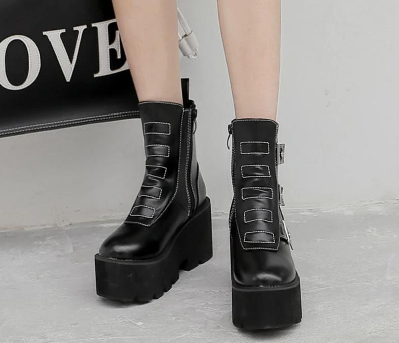 Square Block Heel Ankle Boots