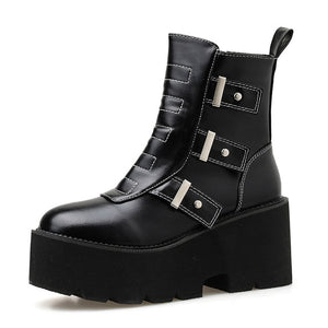 Open image in slideshow, Square Block Heel Ankle Boots