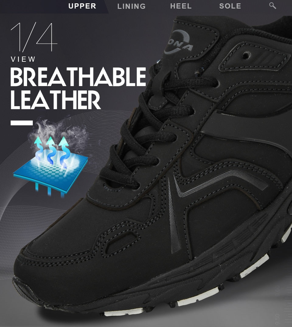 Running Jogging Leather Sneakers