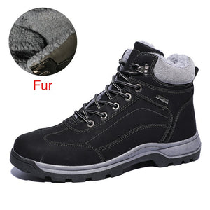 Open image in slideshow, Genuine Leather Waterproof Fur Boots