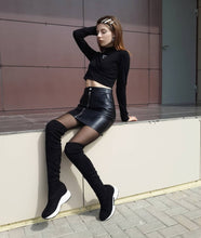 Load image into Gallery viewer, Over The Knee Boots Casual Boots