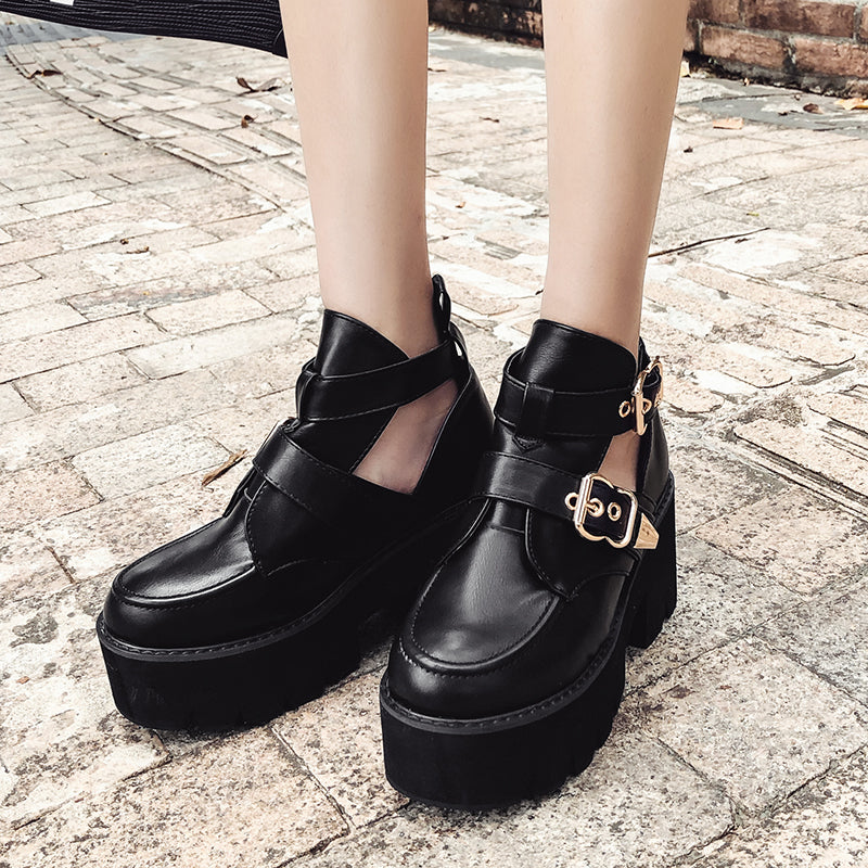 Round Toe  Platform Shoes