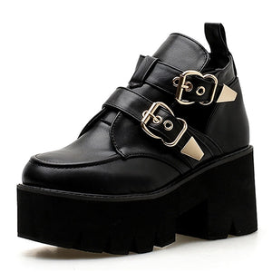 Open image in slideshow, Round Toe  Platform Shoes