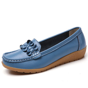 Genuine Leather Extra Wide Moccasins