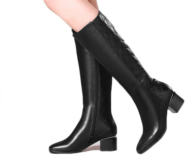 Knee High Zipper Boots