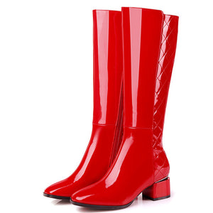 Open image in slideshow, Knee High Zipper Boots