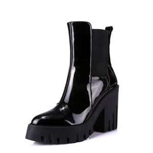 Open image in slideshow, Genuine Leather Platform Boots