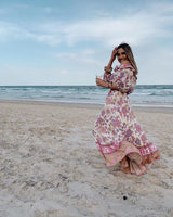 Bohemia Ruffle Maxi Dress