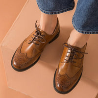Ladies' Genuine Leather Oxford Shoes