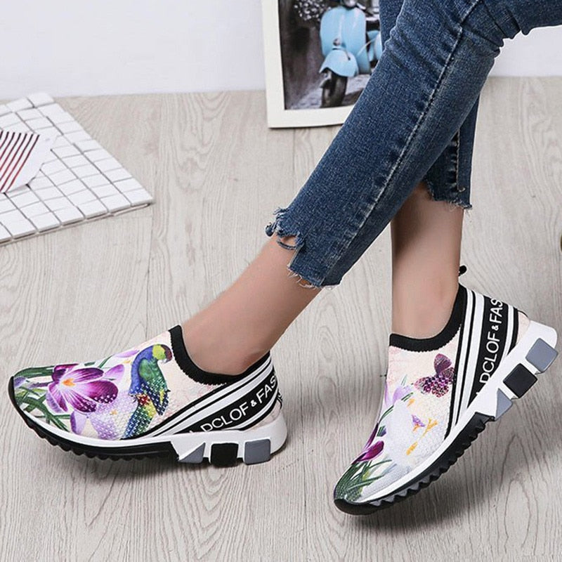 Thick Sole Flower Sneakers