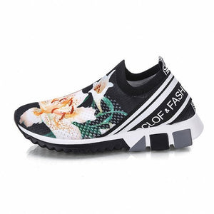 Open image in slideshow, Thick Sole Flower Sneakers