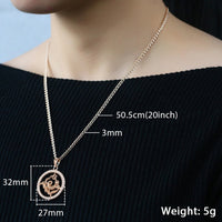 12 Zodiac Sign Pendant Necklace