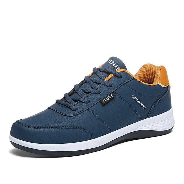 Men's Lightweight Leather Sneakers
