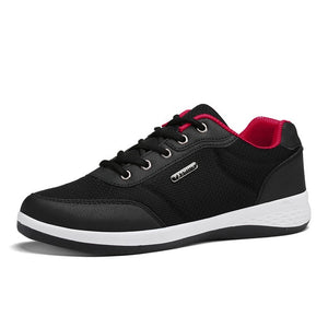 Open image in slideshow, Men's Lightweight Leather Sneakers