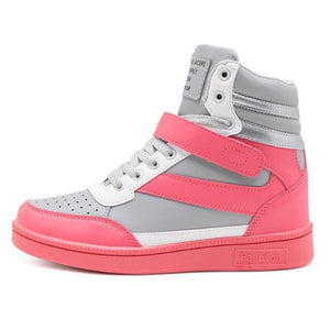 Open image in slideshow, High Top Wedge Sneakers