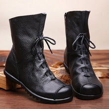 Load image into Gallery viewer, Genuine Leather Ankle Boots