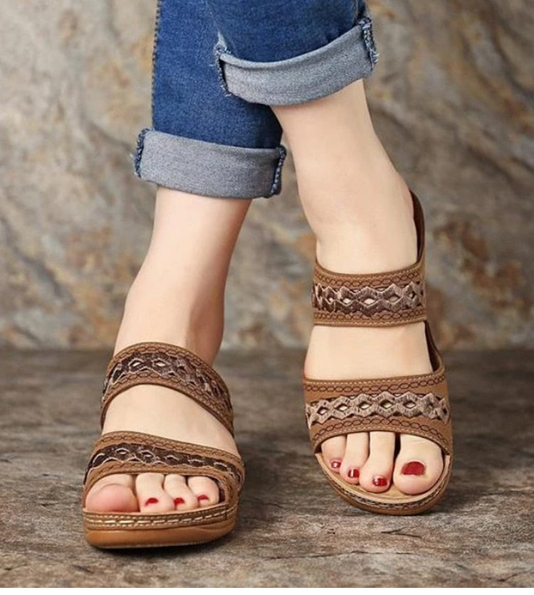 Wedge Slipper Sandals