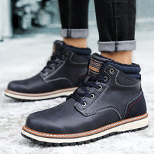 Load image into Gallery viewer, Men's Genuine Leather Waterproof Ankle Boots