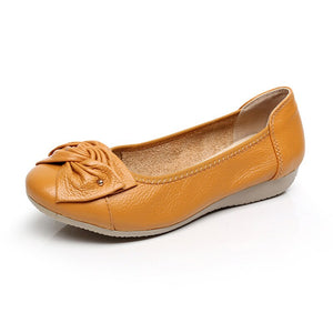 Genuine Leather Ballet Flats
