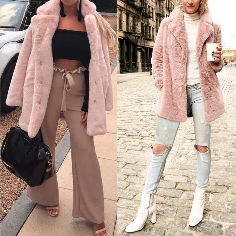 Faux Fur Coat streetwear
