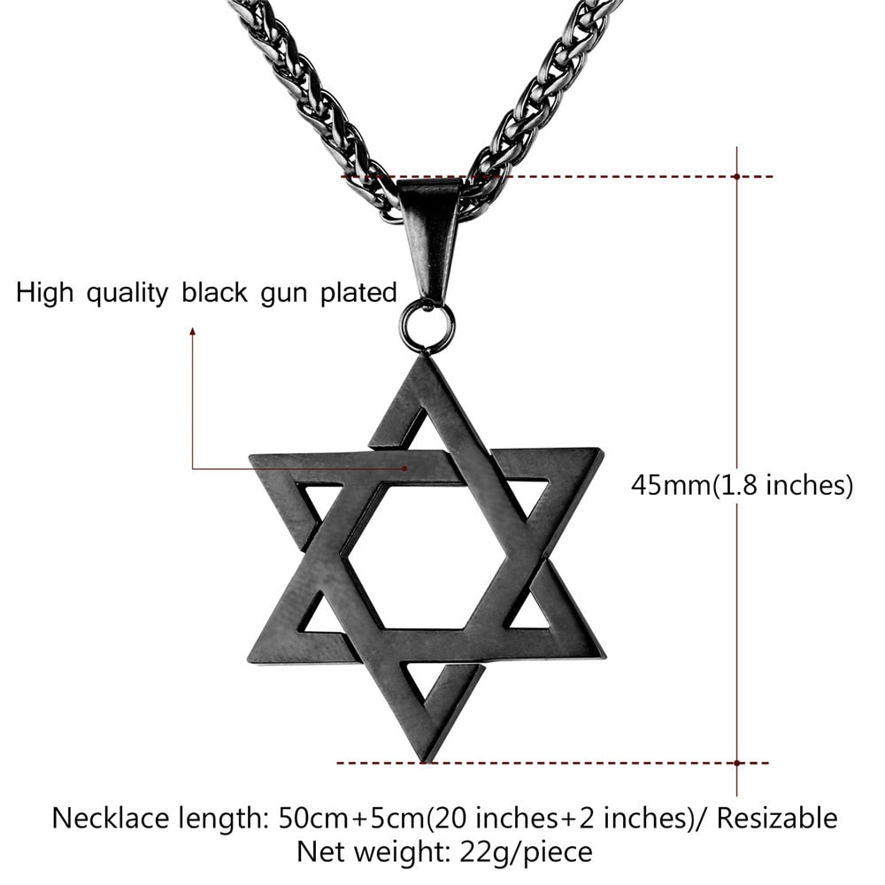 Jewish Magen Star of David Necklace