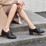 Genuine Leather Oxford Pumps