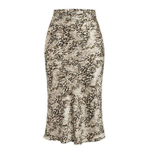 Open image in slideshow, Animal Print Midi Skirt