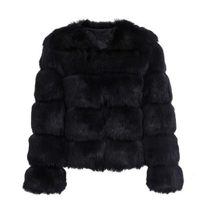 Open image in slideshow, Vintage Faux Fur Coat