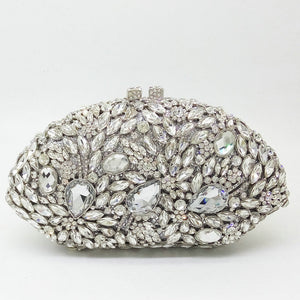 Open image in slideshow, Crystal Floral Clutch